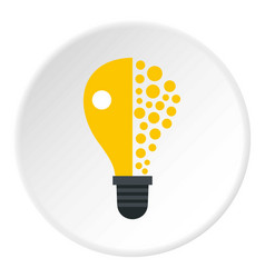 Light bulb icon circle vector