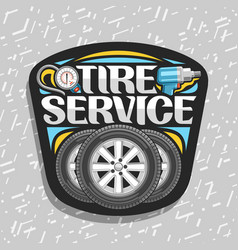 logo for tire service vector image