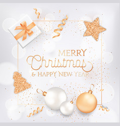 merry christmas and happy new year elegant vector image