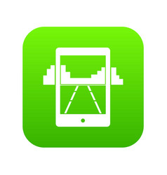 mobile gaming icon digital green vector image