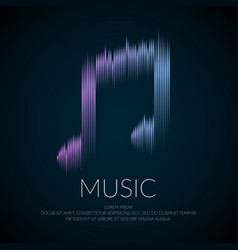 Modern logo or emblem music note in the form vector