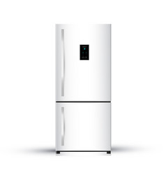 modern realistic frige on white background vector image