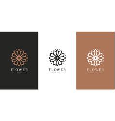 nature flower logo premium vector image