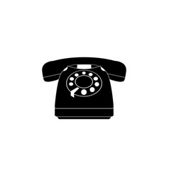 old phone icon black on white vector image