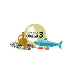 omega 3 vector image vector image