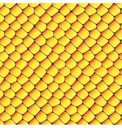 Orange and yellow seamless honeycombs texture vector image