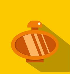 Orange parfume bottle icon flat style vector