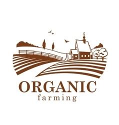 Organic farming design element vector