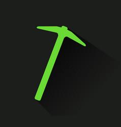 Pickaxe icon vector