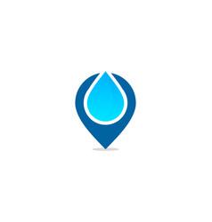Pin water logo icon design vector
