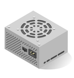 power supply unit or psu realistic isometric icon vector image