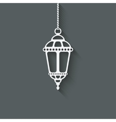 Ramadan lantern design element vector image