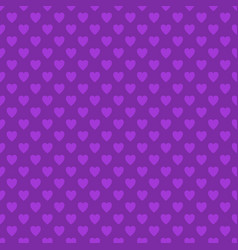 Repeating purple heart pattern background design vector