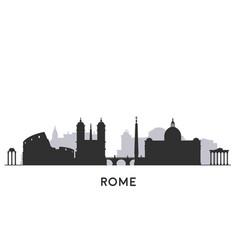 rome city skyline vector image