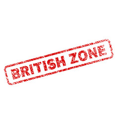 Scratched british zone rounded rectangle stamp vector