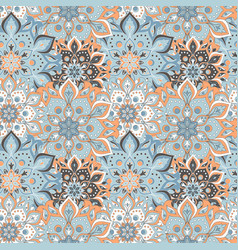 Seamless hand drawn mandala pattern vintage vector