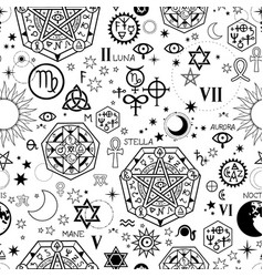 Seamless pattern with different alchemical vector