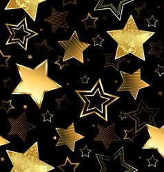 Seamless with Golden Stars vector