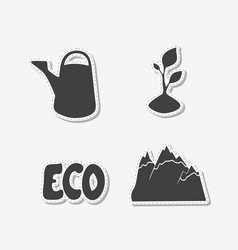 Set of hand drawn stickers vector