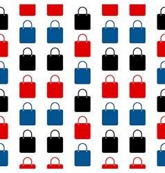 Shopping bag symbol seamless pattern vector