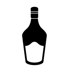 silhouette bottle cream whiskey liqueur icon vector image
