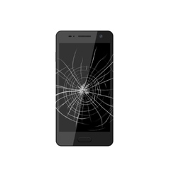 Smartphone with broken screen vector