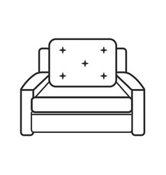 Sofa chair comfort furniture outline vector