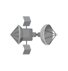 space station with big antenna cosmic technology vector image