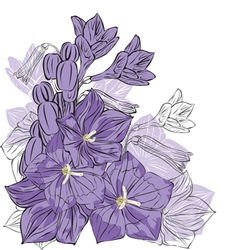 Spring flowers on a white background vector