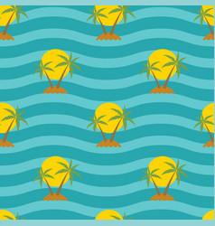 stylized seamless travel background vector image