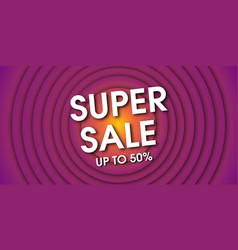 super sale background template vector image