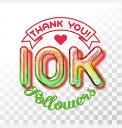 thank you 10k followers vector image