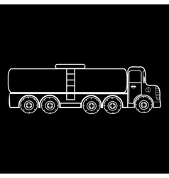 Truck big car transporting liquid gas milk vector