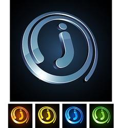 Vibrant 3d j letter vector