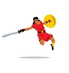 Woman Warrior Cartoon vector image