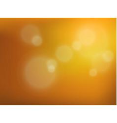 yellow bokeh background vector image