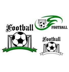 Football and soccer game symbols vector image
