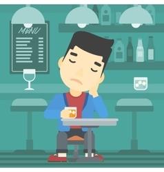 Man drinking at the bar vector image vector image