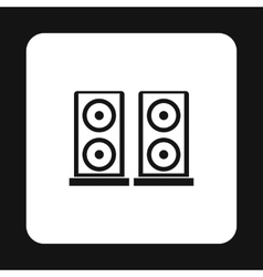 Two audio speakers icon simple style vector image