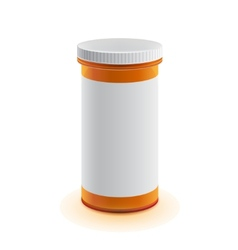 3d realistic medicine bottle for pillows vector image vector image