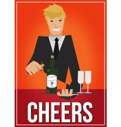 cheers vector image vector image