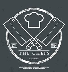 Chefs Vintage T-shirt graphics print vector image vector image