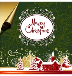 christmas nMerry Christmas background vector image