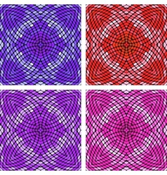 Colorful mosaic set vector image vector image