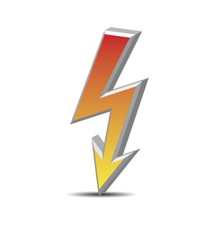Flash danger symbol vector image vector image