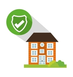 building home security button shadow vector image