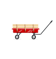 cart childs toy vector image vector image