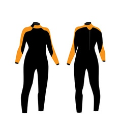 Diving suit vector image vector image