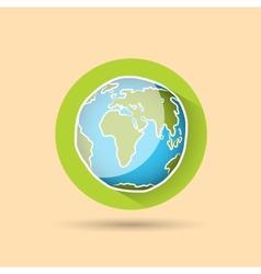 Doodle globe icon vector image vector image