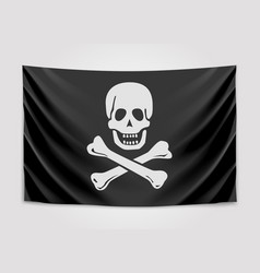 hanging pirate flag vector image